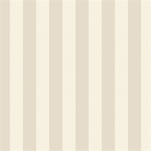 Sand and Beige Vertical 1.25in Regency Stripe Prepasted Wallpaper