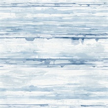 Sandhurst Blue Abstract Stripe Wallpaper