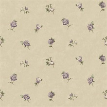Sandra Grey Floral Toss Wallpaper