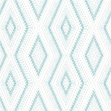 Santa Cruz Turquoise Geometric Wallpaper