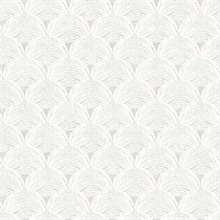 Santiago Grey Scalloped Shells Wallpaper