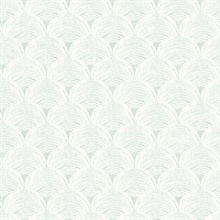 Santiago Teal Scalloped Shells Wallpaper