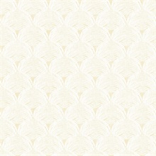 Santiago Yellow Scalloped Shells Wallpaper