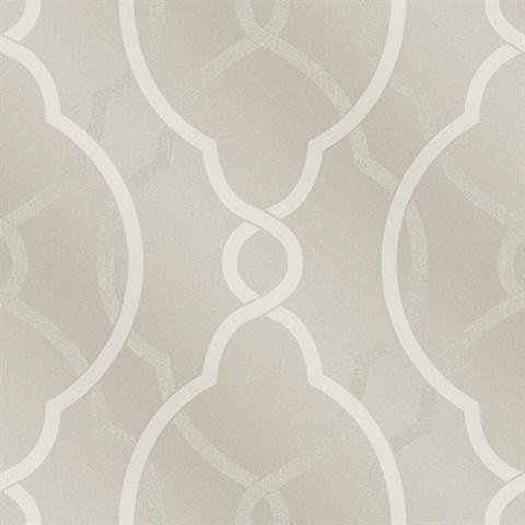 2697-87304 | sausalito champagne lattice wallpaper