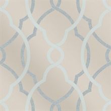 Sausalito Light Blue Lattice Wallpaper