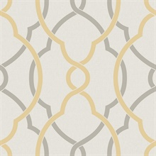 Sausalito Yellow Lattice Wallpaper