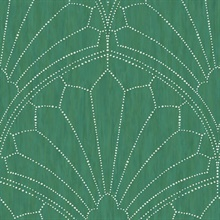 Scallop Green Wallpaper