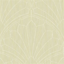 Scallop Light Grey Wallpaper
