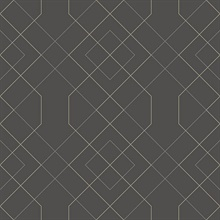 Scott Living Ballard Grey Geometric Non Woven Unpasted Wallpaper