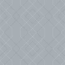 Scott Living Ballard Pewter Geometric Non Woven Unpasted Wallpaper