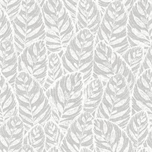 Scott Living Del Mar Grey Botanical Non Woven Unpasted Wallpaper