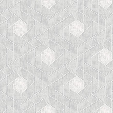Scott Living Granada Light Grey Geometric Non Woven Unpasted Wallpaper