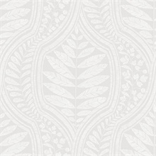 Scott Living Juno Light Grey Ogee Non Woven Unpasted Wallpaper