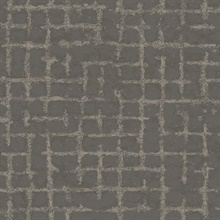 Scott Living Shea Charcoal Distressed Geometric Non Woven Unpasted Wal