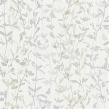 Scott Living Thea Grey Floral Trail Non Woven Unpasted Wallpaper