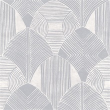 Scott Living Westport Pewter Geometric Non Woven Unpasted Wallpaper
