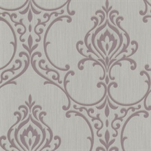 Scott Mauve Nouveau Damask Wallpaper
