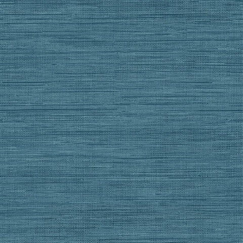 Trd23286 Sea Grass Blue Faux Grasscloth Wallpaper
