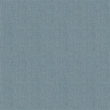 Seaton Teal Linen Textured Wallpaper