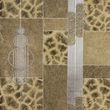 Serengeti Brown Patchwork Wallpaper