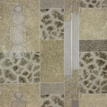 Serengeti Taupe Patchwork Wallpaper