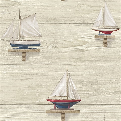 Set Sail Beige Wood