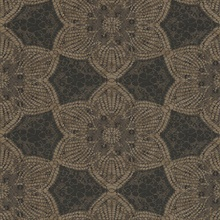 Seychelles Brown Medallion Wallpaper