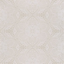 Seychelles Champagne Medallion Wallpaper