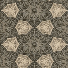 Seychelles Chocolate Medallion Wallpaper