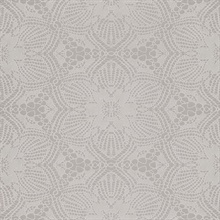 Seychelles Grey Medallion Wallpaper