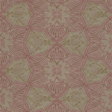 Seychelles Mauve Medallion Wallpaper