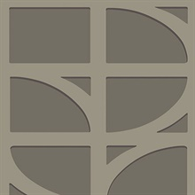 Shapes Dark Grey Curved Trellis Wallpaper