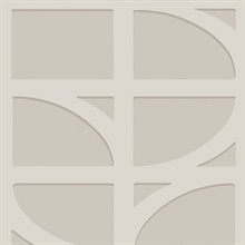 Shapes Silver Curved Trellis Wallpaper