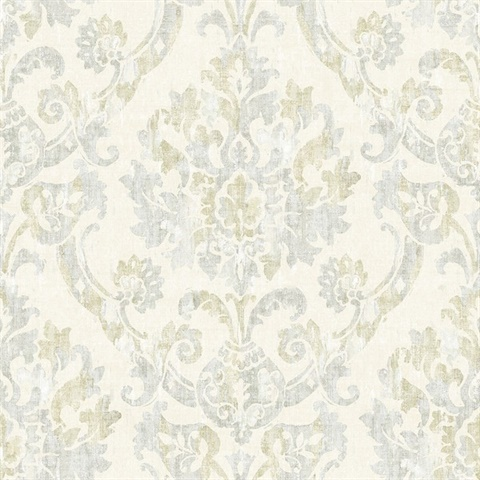 Shasta Grey Damask