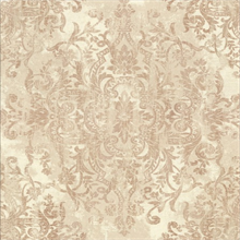 Shirley Cream Distressed Damask Wallpaper