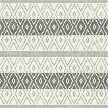 Silver & Grey Commercial Tribal Stripe Wallpaper