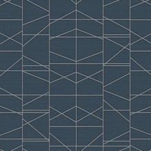Silver Modern Perspective Geometric Wallpaper