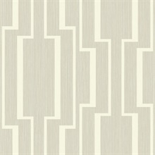 Silver & White Abstract Geometric Lines Wallpaper