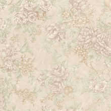 Simona Light Grey Floral Fruit