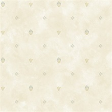 Siri Grey Damask Spot Toss Wallpaper