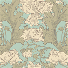 Siri Turquoise Floral Wallpaper