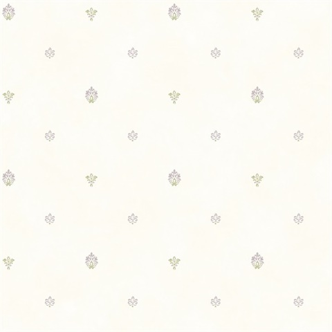 Siri White Damask Spot Toss Wallpaper