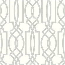 Soft Gray Deco Lattice