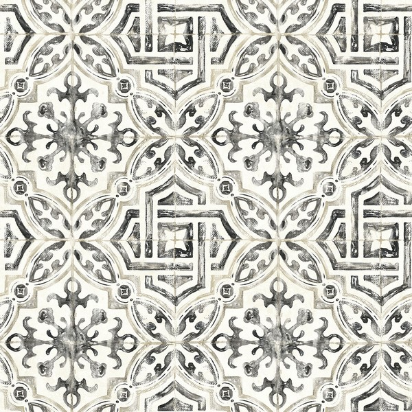 3117 12331 Sonoma Black Spanish Tile Wallpaper Boulevard