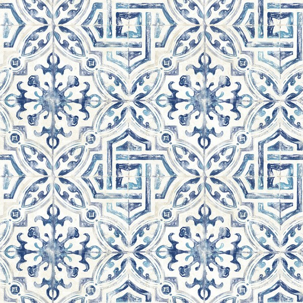 3117 12332 Sonoma Blue Spanish Tile Wallpaper Boulevard
