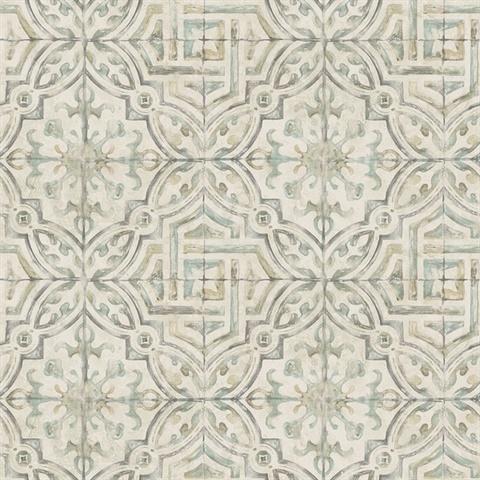 311712335 Sonoma Olive Spanish Tile Wallpaper Boulevard