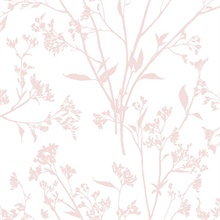 Southport Blush Pink Coastal Branches Wallpaper