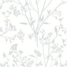 Southport Light Grey Coastal Branches Wallpaper