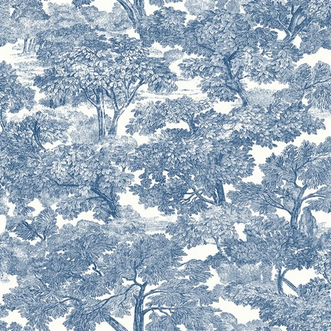 Spinney Blue Toile