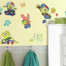 Spongebob Squarepants Skaters Wall Decals